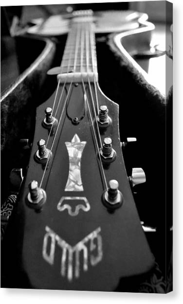 Guitar Picks Canvas Print - Guild by Michelle Calkins