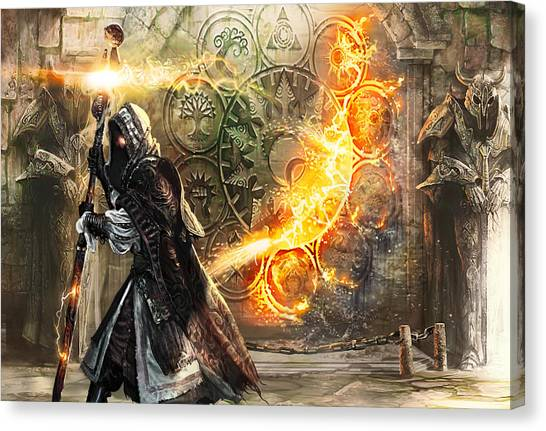 Wizard Canvas Print - Guildscorn Ward by Ryan Barger