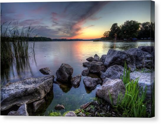 Guilford Lake Sunset Canvas Print