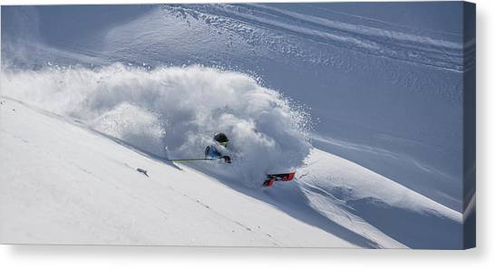 Skiing Canvas Print - Guiness by Jake Gifford