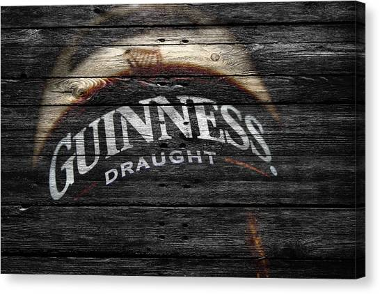 Beer Can Canvas Print - Guiness by Joe Hamilton