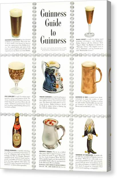 St. Patricks Day Canvas Print - Guinness Guide To Guinness by Georgia Fowler