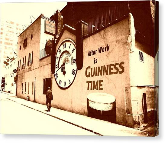 Guinness Time Canvas Print