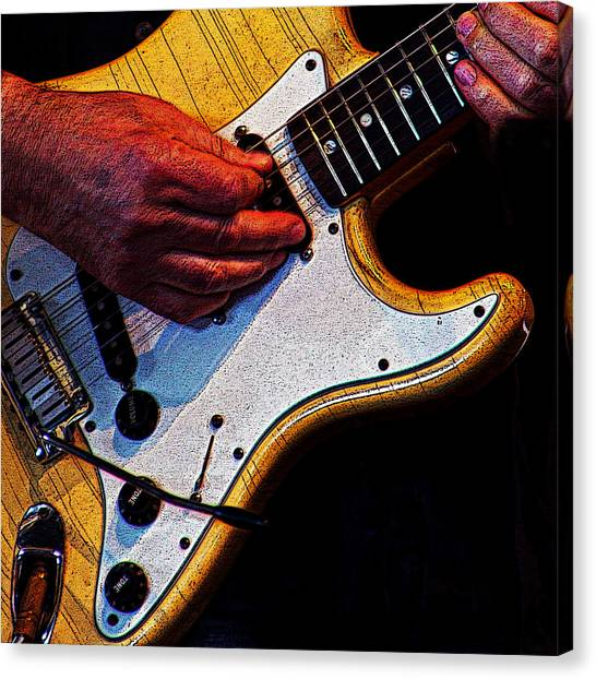 Guitar Picks Canvas Print - 10233 Guitar #1 by Colin Hunt
