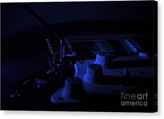 Guitar Blues Canvas Print