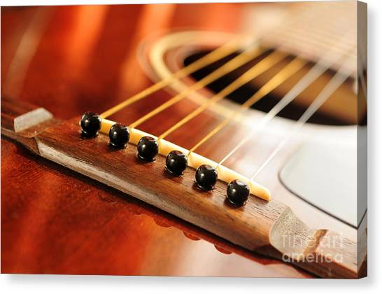 Classical Guitars Canvas Print - Guitar Bridge by Elena Elisseeva