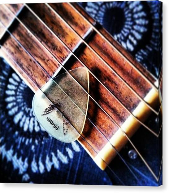 Guitar Picks Canvas Print - #guitar #frets #pick #acoustic by Lucy Siciliano