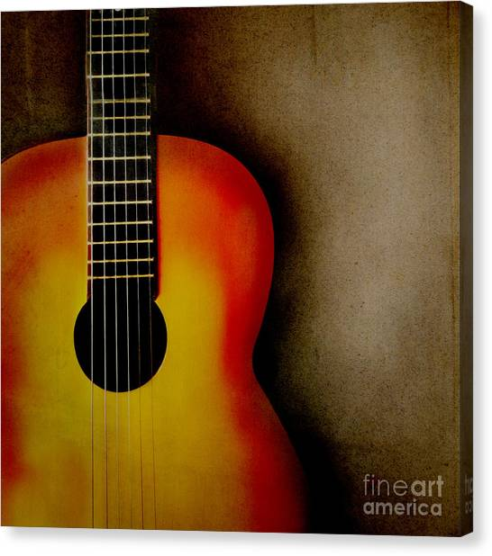 Classical Guitars Canvas Print - Guitar by Jelena Jovanovic