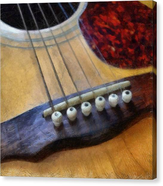 Classical Guitars Canvas Print - Guitar by Michelle Calkins