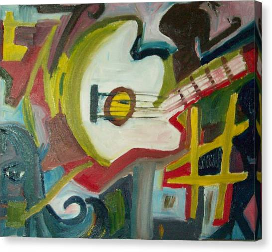 Uc Riverside Canvas Print - Guitar Muse In C Sharp by James Christiansen