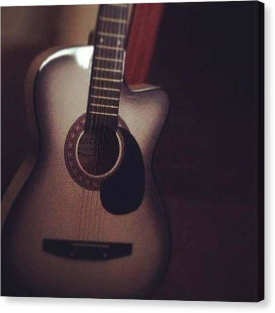 String Instrument Canvas Print - #guitar #music #happiness #love by Chad Freeman