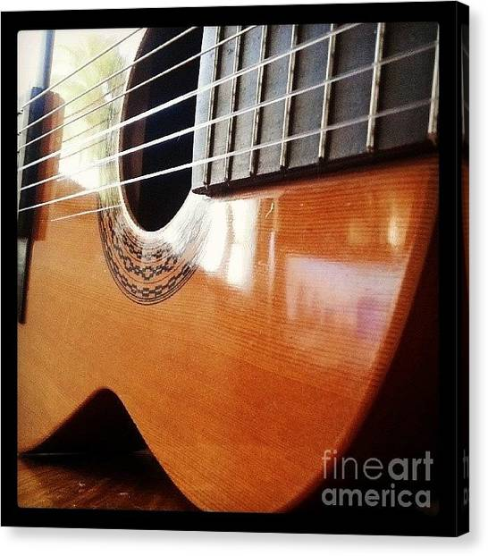 Guitars Canvas Print - #guitar #music #musicalinstrument by Abbie Shores