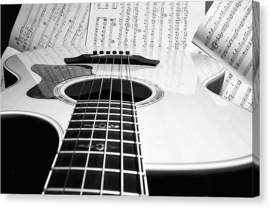 Guitar Music Canvas Print
