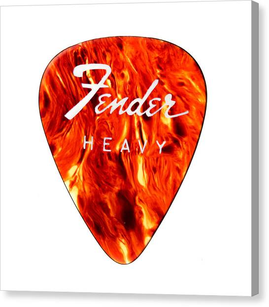 Guitar Picks Canvas Print - Guitar Pick by Jim Hughes