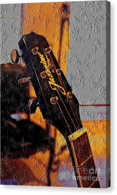 Guitar Picks Canvas Print - Guitar Picking by Jonas Clark