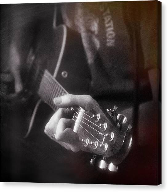String Instrument Canvas Print - Guitar Player by Darran Buckley