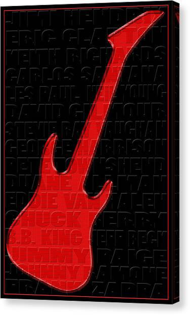 Neil Young Canvas Print - Guitar Players 1 by Andrew Fare