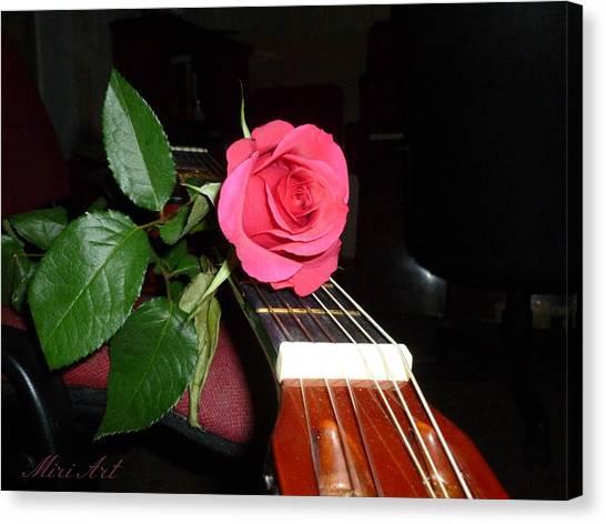 Guitar Rose Canvas Print