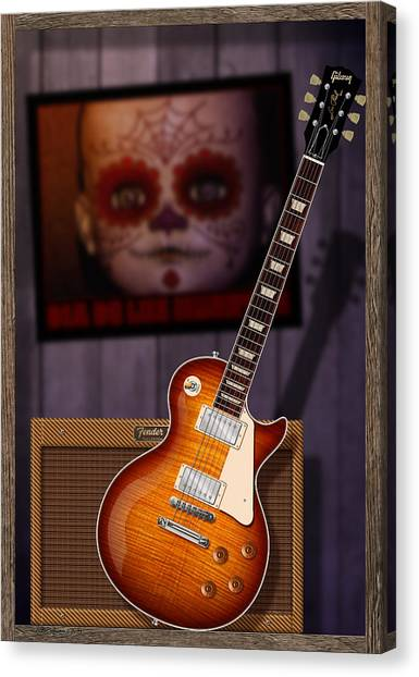 Guitar Scene Canvas Print