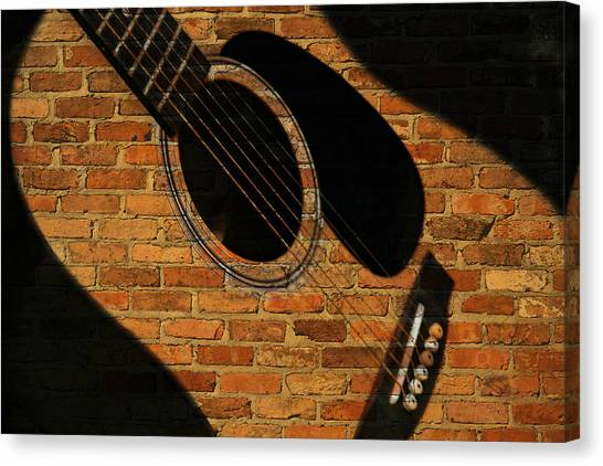 Guitar Shadow Canvas Print