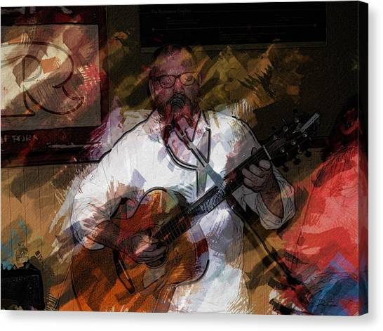 Guitar Singer Canvas Print