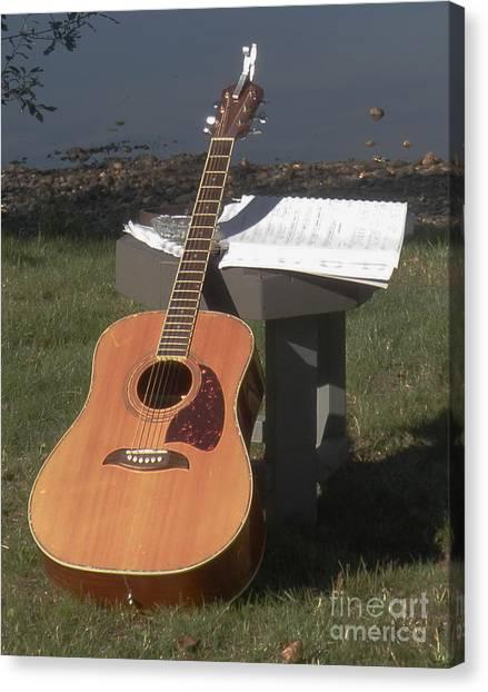 Guitar Solo Canvas Print