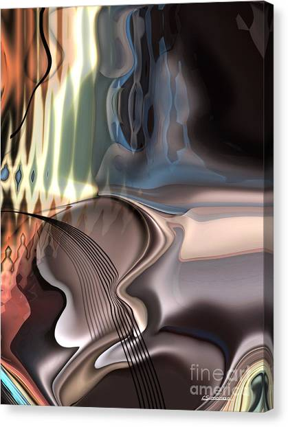 Music Canvas Print - Guitar Sound by Christian Simonian