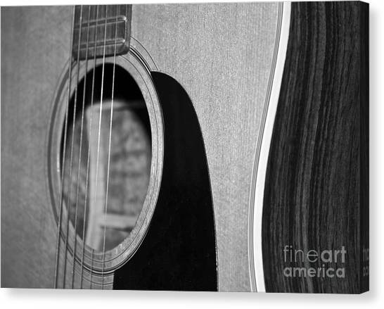 Guitar Picks Canvas Print - Guitar Strings by Linda Bianic