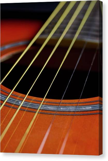 Principals Canvas Print - Guitar Strings by Science Photo Library