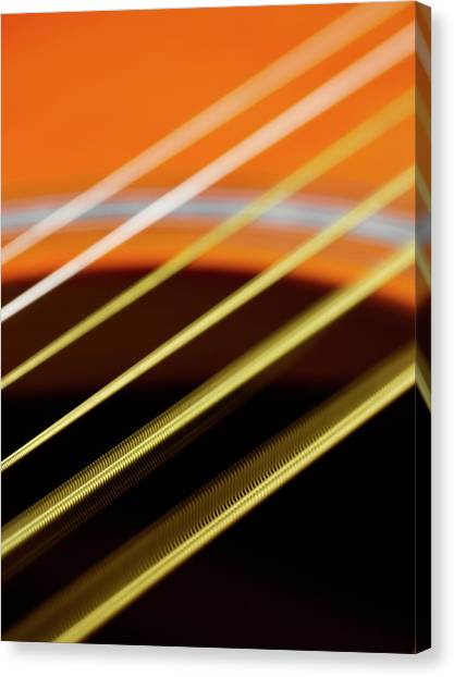 Principals Canvas Print - Guitar Strings Vibrating by Science Photo Library