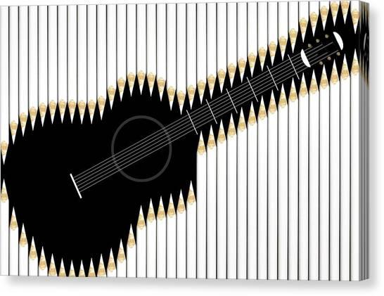 Pencils Canvas Print - Guitar by Udo Dittmann