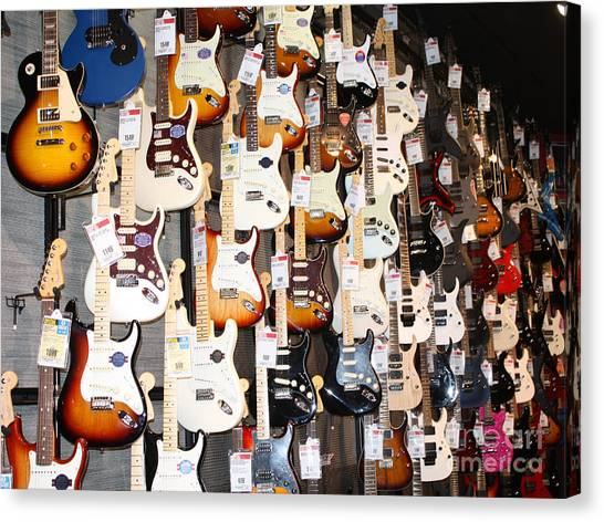 Guitar Wall Of Fame Canvas Print