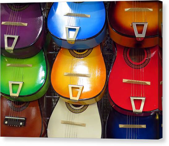Guitaras San Antonio  Canvas Print