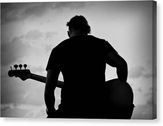 Guitarist - Funktography By Nerisha Ray Singh Canvas Print by Nerisha Ray Singh