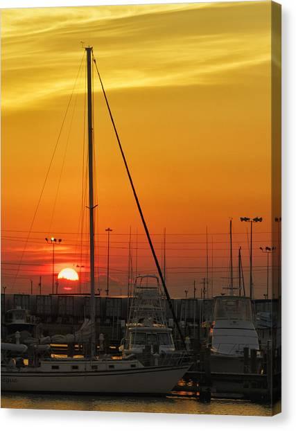 Gulfport Harbor Canvas Print