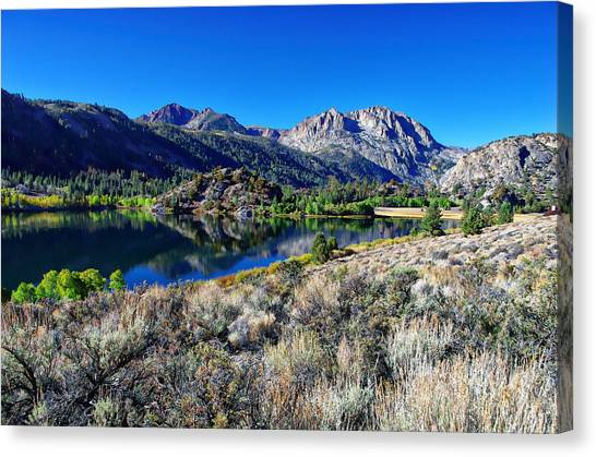 June Lake Canvas Print - Gull Lake Fall Morning by Scott McGuire