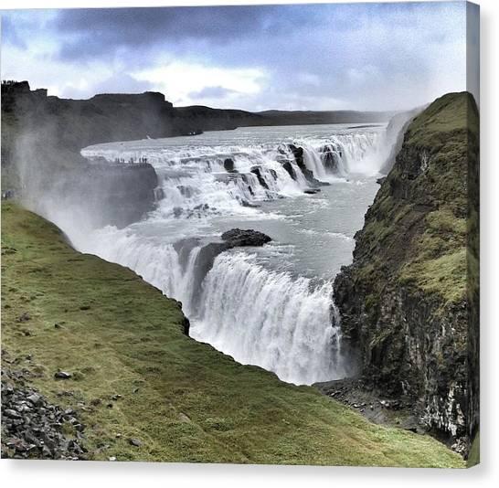 Gullfoss Falls Sw Iceland Canvas Print