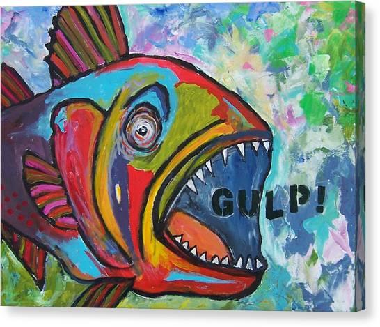 Gulp Canvas Print