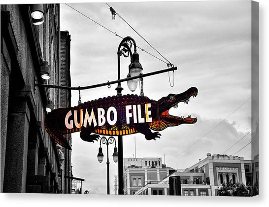 Gumbo Canvas Print - Gumbo File by Bill Cannon