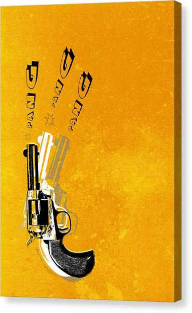 Weapons Canvas Print - Gun 16 by Mark Ashkenazi