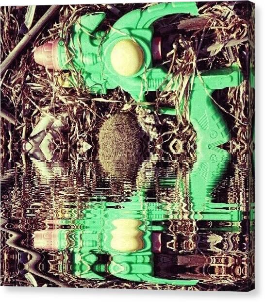 Steampunk Canvas Print - #gun #game #futuristic #cyberpunk by Michele Stuppiello