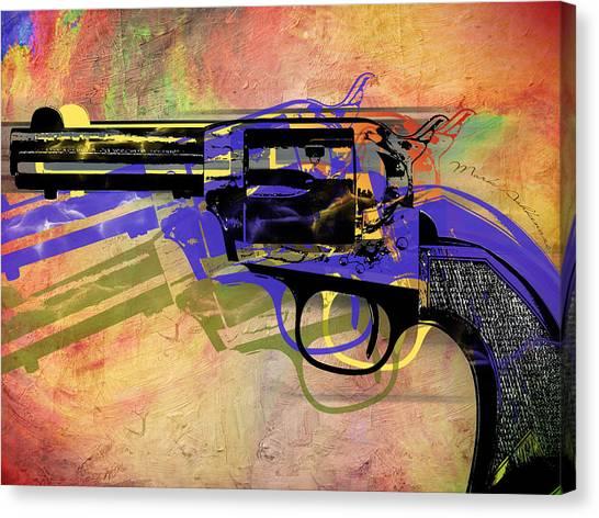 Weapons Canvas Print - gun by Mark Ashkenazi
