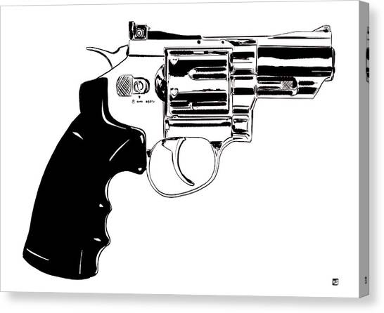 Pistols Canvas Print - Gun Number 27 by Giuseppe Cristiano