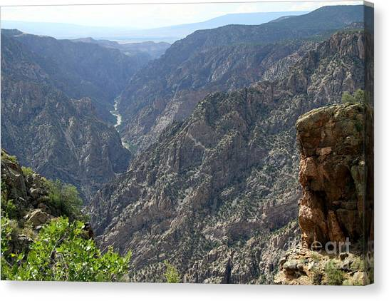 Canvas Print - Gunnison River Winding Through The Mountains by Christiane Schulze Art And Photography