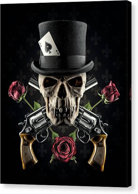 Ace Canvas Print - Guns And Roses by Petri Damst??n