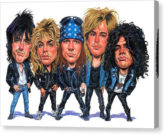 Guns N Roses Canvas Print - Guns N' Roses by Art
