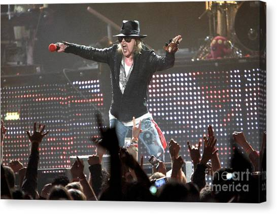 Guns N Roses Canvas Print - Guns N' Roses by Concert Photos