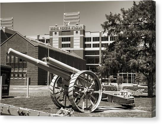 Oklahoma State University Canvas Print - Guns On Campus by Ricky Barnard