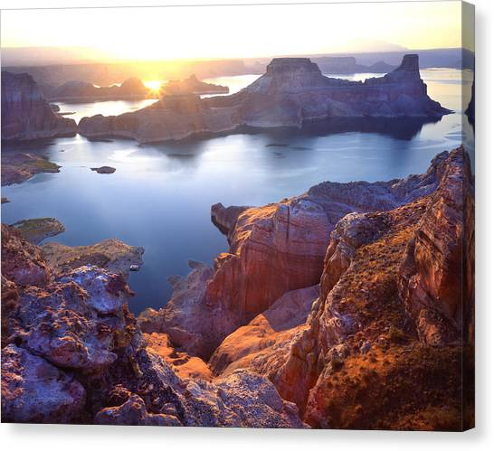 Gunsight Bay Sunrise Canvas Print