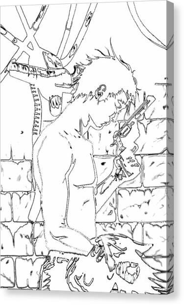 Gunslinger Born Iced Edition Canvas Print